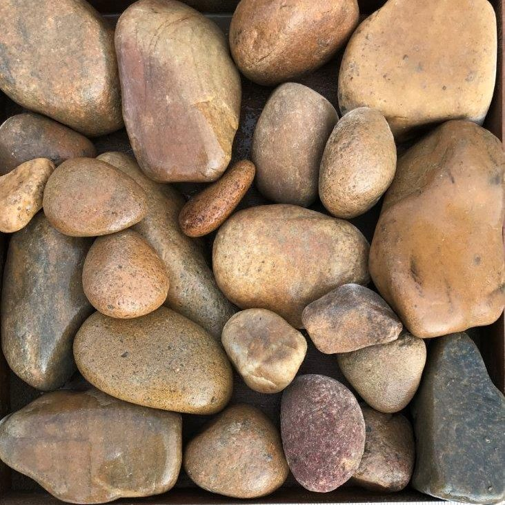 wet 3-4 multi colored cobble